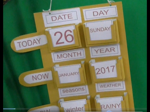 How to Make School Project Calendar Very Easy Method - YouTube