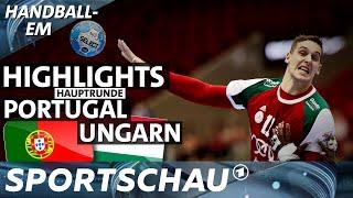 Highlights: Portugal gegen Ungarn   Handball-EM   Sportschau