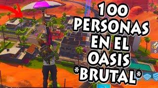 Video de *WORLD RECORD* 100 PERSONAS en OASIS OSTENSOSO! FORTNITE Battle Royale