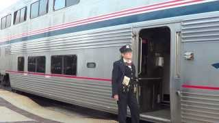 Amtrak #4 Southwest Chief departing Fullerton station with marty ann 2015-05-09