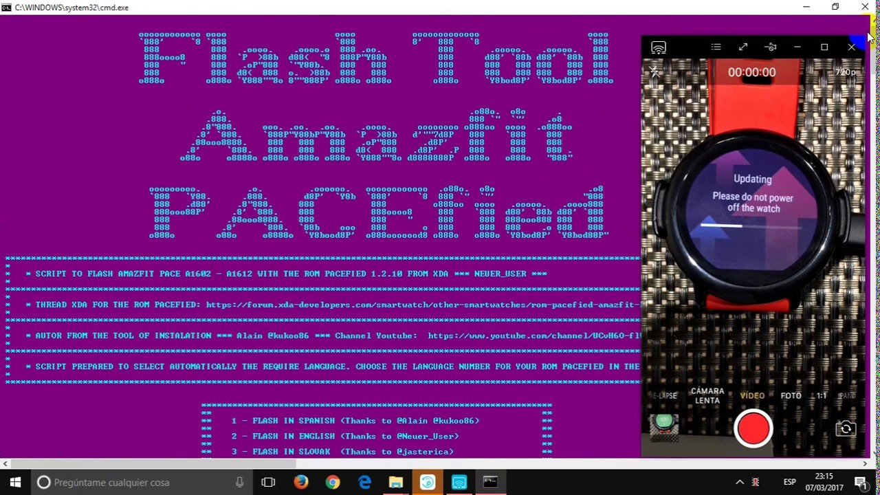 [FLASH TOOL] PACEfied 1 2 17 rel 13 Xiaomi Amazfit - UPDATE 01/05/2017-***  XDA Community ***