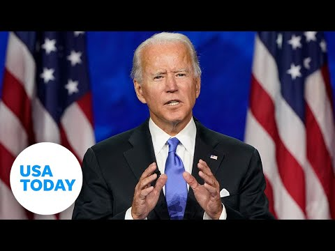 Joe Biden accepts the nomination at DNC, delivers speech on four crises (FULL) | USA TODAY