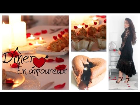 Repas romantique | | 5 Idées recettes : Brochettes, Muffins Salés, Tiramisu ChocoBanane, Fondant ...