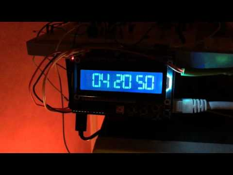 Raspberry Pi NTP Server with status LCD