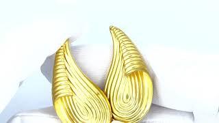 Vidéo: Boucles d'oreilles clips Lalaounis en Or jaune 18 Cts.