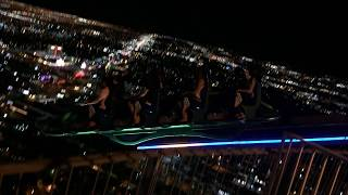 Las Vegas Stratosphere Thrill Rides X-Scream and Power Shot 2015. Scary! Fun! Awesome!