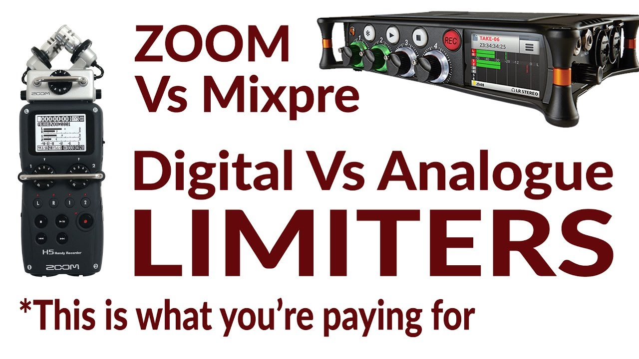 Sound Devices Mixpre 3/6 VS Zoom Limiters Test Example review analogue  digital H5 H6 H4n F4 F8