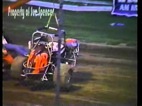 Sue Spencer Midget Crash