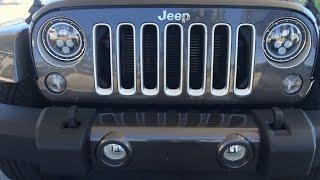 LED Halo Headlight Upgrade on a Jeep JK