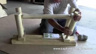 Rustic Natural Cedar Straight Log Bench | Cedar Looks Log Bench