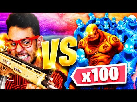 ¡GREFG VS 100 ZOMBIES! *RETO FORTNITE* - TheGrefg