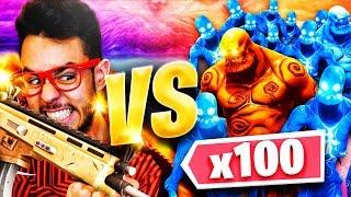 ¡GREFG VS 100 ZOMBIES! *RETO FORTNITE* - TheGrefg
