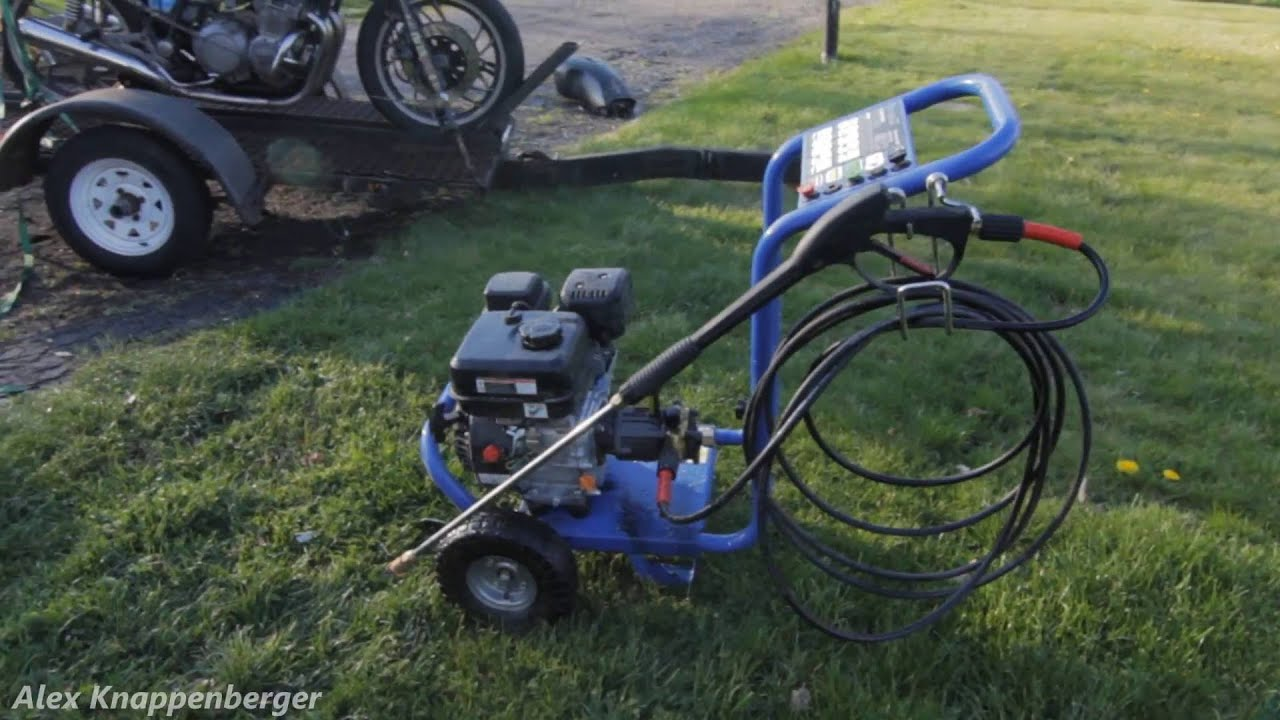 Harbor Freight 3gpm Gas Pressure Washer Review Youtube