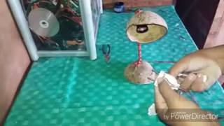 Lampu belajar dari batok kelapa tutorialnya