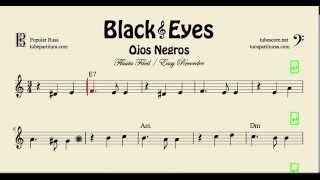 Video Ojos Negros Partitura Fácil de Flauta Dulce Black Eyes download MP3, 3GP, MP4, WEBM, AVI, FLV Mei 2018