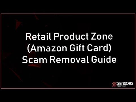 Retail Product Zone Scam (Fake Amazon Gift Card) Removal
