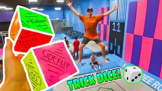 GIANT TRAMPOLINE TRICK DICE! (GAME)