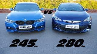 Страшный СОН для BMW?! OPEL ASTRA J OPC vs BMW F30 328i Гонка