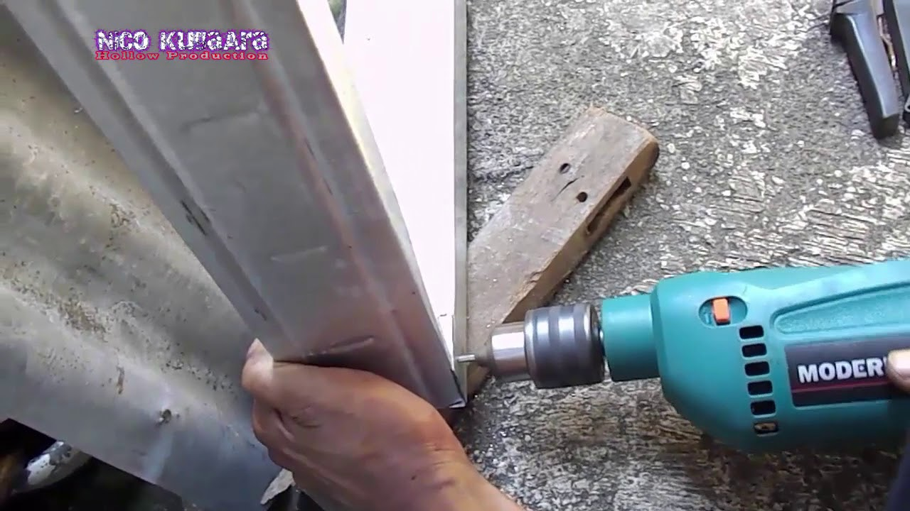 rangka kanopi jendela baja ringan membuat di tempat yang sempit part 1 youtube