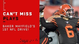 Baker Mayfield's Debut Drive Gets Browns on the Board!