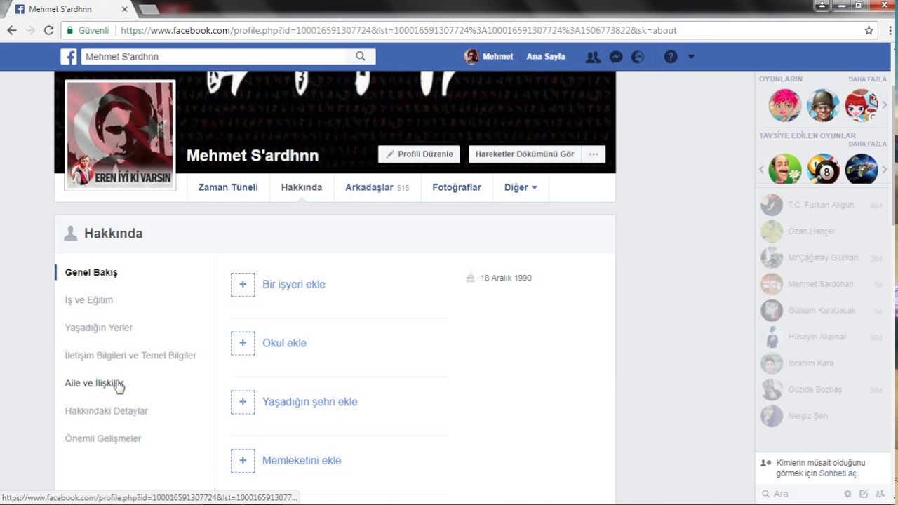 facebook takip edenleri gör