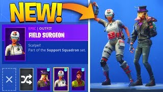 'NEW' LEAKED FORTNITE SKINS et EMOTES..!! (Stage Slayer, Field Surgeon, Hitchhike, Vivacious)