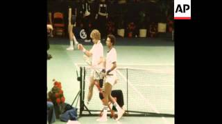 SYND 14 1 79  TENNIS GRAND MASTERS SEMI-FINAL, ASHE V GOTTFRIED, MCENROE V DIBBS