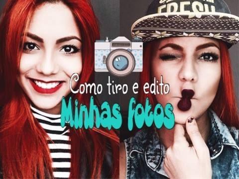 COMO EU TIRO E EDITO MINHAS FOTOS + APPS DE FOTOS...