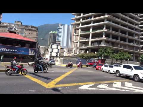 Walking in Caracas, Venezuela