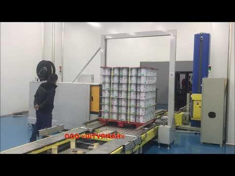 Автоматический паллетайзер с роботом-рукой