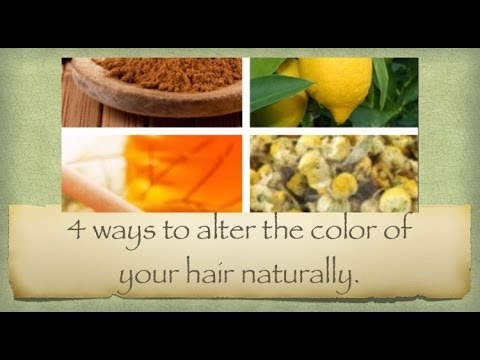 Natural Ways to change your hair color without chemicals. - YouTube