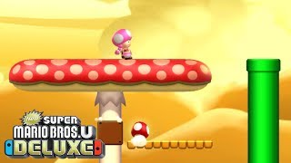 New Super Mario Bros U Deluxe - Walkthrough Part 12 - Layer Cake Desert 5 - Dry Desert Mushroom