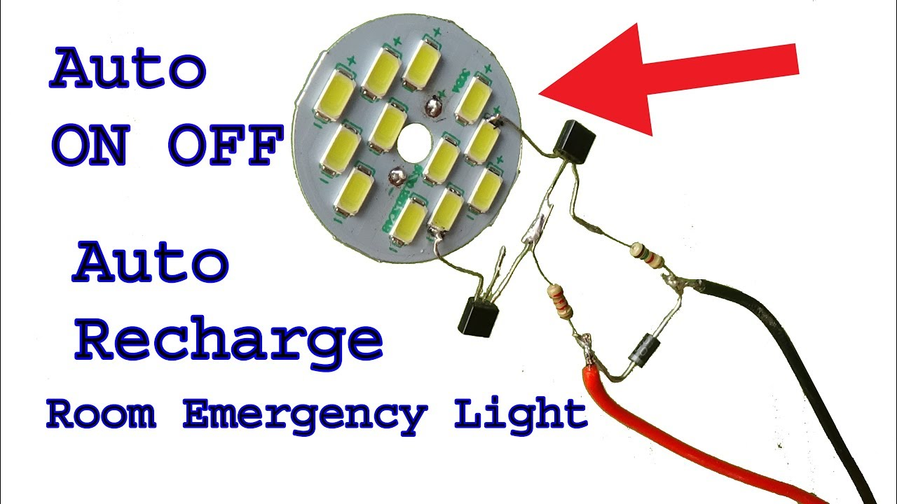 Make 12 Volt Auto On Off Rechargeable Room Emergency Led Lightdiy Wiring Diagram For Light