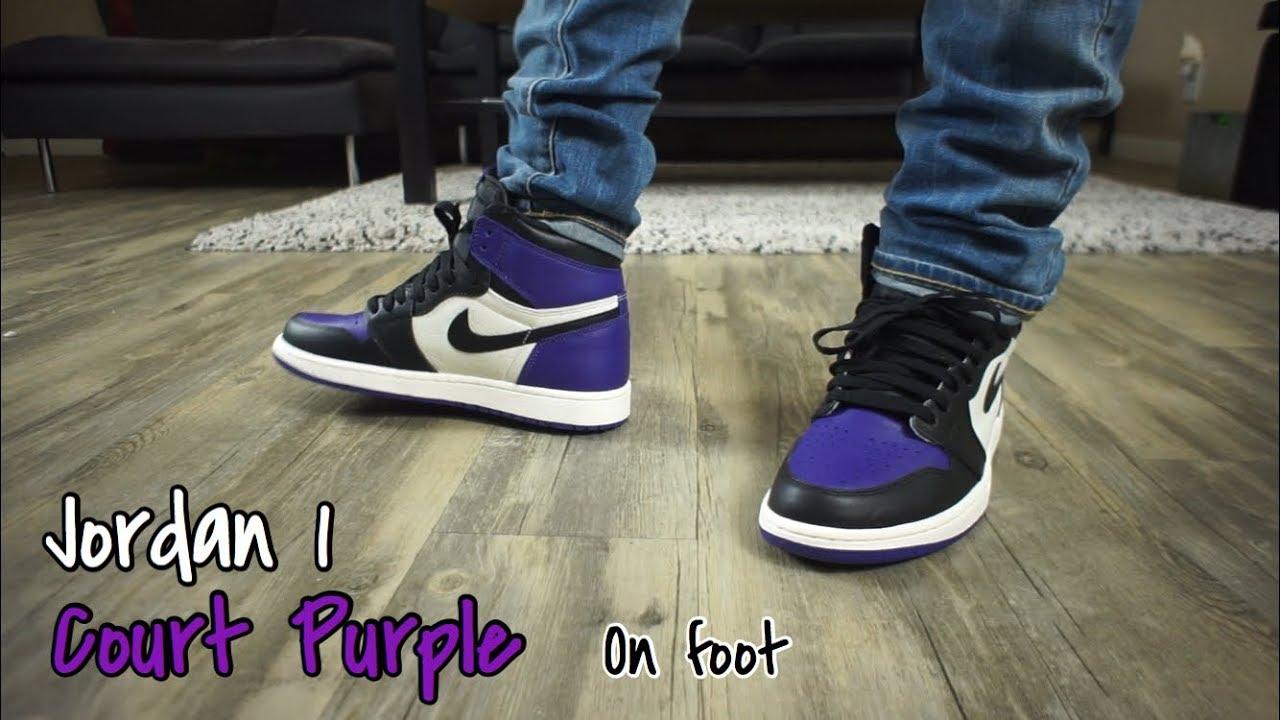 New Pick Up - Court Purple 1 On Feet