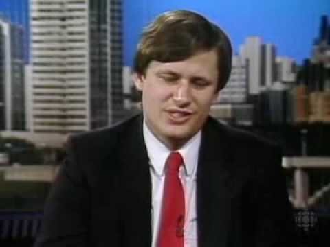 Stephen Harper 1991 Interview en Quebec