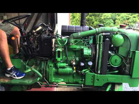 john deere 2150 startup and leak check after transmission oil pump seal replacement John Deere 110 Wiring Diagram