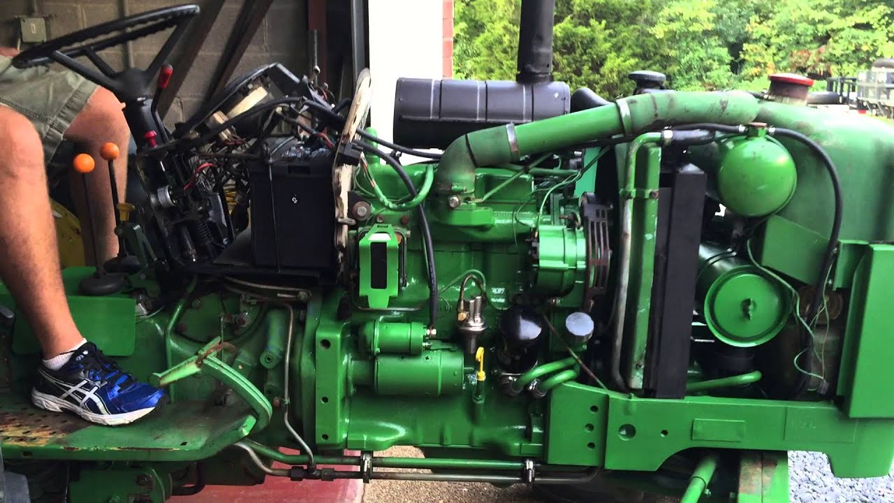 John Deere 2150 startup and leak check after transmission oil pump seal replacement  YouTube