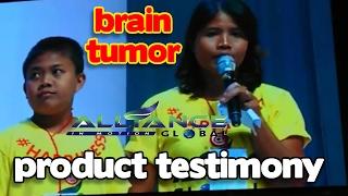 BRAIN TUMOR SURVIVOR - AIM GLOBAL PRODUCT TESTIMONY