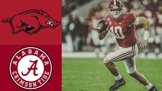 Arkansas vs #1 Alabama Highlights | NCAAF Week 9 | College Football Highlights