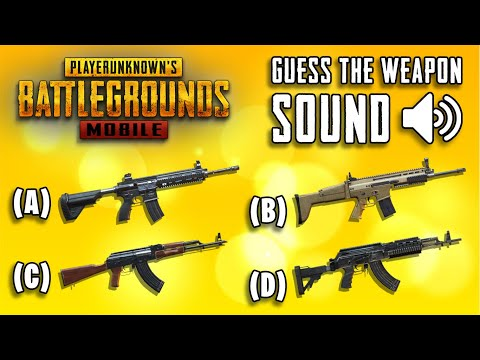 Guess The Weapon Sound In PUBG Mobile | Ultimate Quiz #2