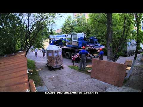 видео: Разгрузка 20-футового контейнера с магнитом МР-томографа openmark 4000