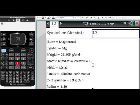 Periodic table of elements on the tinspire calculator youtube periodic table of elements on the tinspire calculator urtaz Image collections