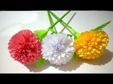 How to Make a Flower Marigold DIY Paper Crafts