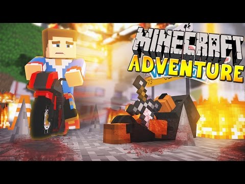 Minecraft - Donut the Dog Adventures -DONUT  FALLS TO HIS DEATH!!!!