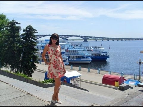 Russian Beautiful Girls. Embankment on Volga River. Saratov. Vlog: Russian Girl in Russia. P8