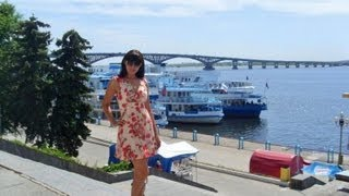 Russian Beautiful Girls. Embankment on Volga River. Saratov. Vlog: Russian Girl in Russia. P8