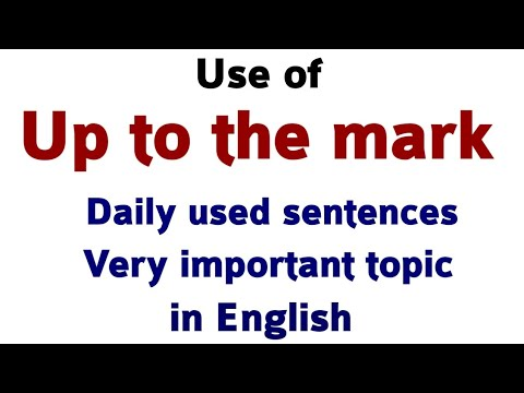 Use of up to the mark in English | Learn English speaking course | English speaking by Alam.