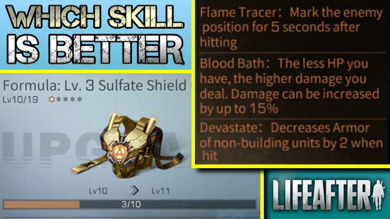 LIFEAFTER – PENJELASAN SKILL EQUIPMENT & SPECIAL RESEARCH