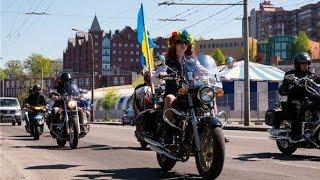 Харьков порадовало байкер шоу, проходит на Пасху.