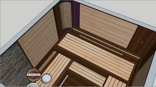 Проект-эскиз бани 2х2  Стильная парная.